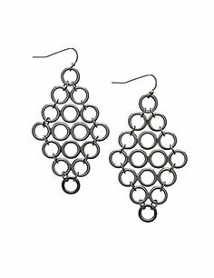 In sleek faux hematite, these mini waterfall earrings add just the right touch of shimmer. #LaneBryant