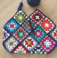 Crochet grannysquares bag🌸🌺🌹🦋