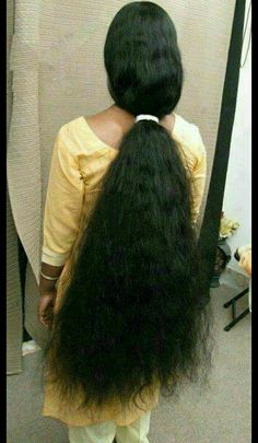 I informed her that that ponytail. She was all for that idea Long Ponytail Hairstyles, Long Hair Ponytail, Braids For Long Hair, Bun Hair, Grow Long Hair, Long Wavy Hair, Super Long Hair, Indian Hairstyles Men, Beautiful Long Hair