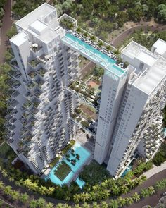 Swimmable Sky Bridge - Sky Habitat Condominium, Singapore