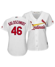 5486c286f Majestic Women's Paul Goldschmidt St. Louis Cardinals Cool Base Player  Replica Jersey - White S