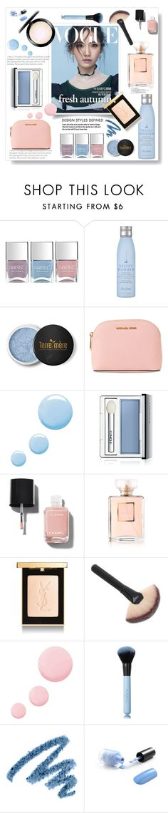 """Fresh Autumn"" by gul07 ❤ liked on Polyvore featuring Nails Inc., Drybar, Terre Mère, MICHAEL Michael Kors, Topshop, Chanel, Yves Saint Laurent and MAC Cosmetics"