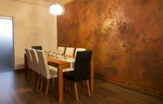 Very nice copper wall Copper Wallpaper, Faux Walls, Copper Paint, Tadelakt, Wall Finishes, Custom Cabinetry, Wall Treatments, Interior Design Inspiration, Interior And Exterior