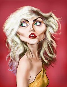 Debbie Harry by on DeviantArt Funny Caricatures, Celebrity Caricatures, Celebrity Drawings, Cartoon Faces, Funny Faces, Cartoon Art, Caricature Artist, Caricature Drawing, Black And White Cartoon
