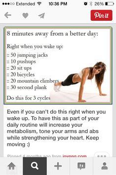 Morning workout! :)