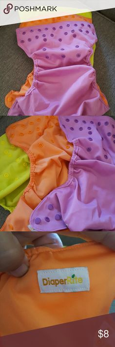 DiaperRite Diaper covers Diaper covers excellent like new condition! We are firm on the price but feel free to bundle with other items to save on costs and shipping!!   No PP No Trades Smoke free home Items are shipped withing 48 hrs from purchase! Thanks for shopping with us! DiaperRite  Bottoms