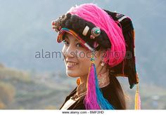 Jiarong Tibetan woman in Gyarong Beauty Valley, Danba, Garze Tibetan Autonomous Prefecture, Sichuan Province, China - Stock Image