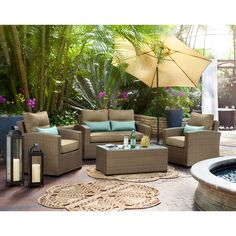 Spring is here, spring is NOW. Why not beautify your patio with our Retreat line? Outdoor Furniture - Corona 4 Pc. Outdoor Living Room