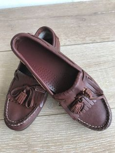bd640565110 Dexter Womens Slip On Shoes Loafers Size 7M Tassel Kiltie Moc Toe Brown  Leather