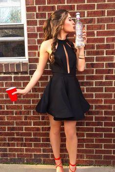 short homecoming dress,homecoming dresses,black homecoming dress,homecoming dress