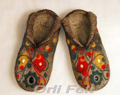Homemade Felted Slippers