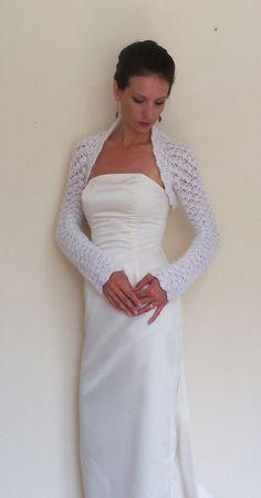 WEDDING SHRUG bridal BOLERO hand crochet from by HandmadeLaremi, $89.00