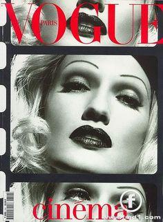 karen mulder vogue looking like Marlene Dietrich