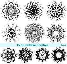 free photoshop brushes | Snowflake Free Photoshop Brushes -Set-1 Photoshop Free Brush