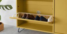 Elona Shoe storage, Yellow and Charcoal Shoe Storage Solutions, Quiz Design, Magazin Design, Interiors Magazine, Small Wardrobe, Sofa Sale, Bed Storage, Minimalist Bedroom, Soft Furnishings