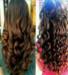 The two different curly hair styles- I can never decide which one I like doing better...