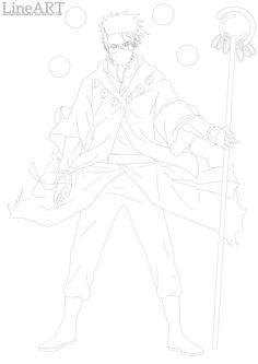 LINEART: Kakashi, Juubi Jinchuriki (Rikudo Mode) by ArgyraChersonese.deviantart.com on @deviantART