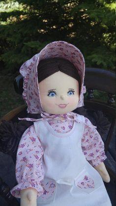 Handmade Soft Sculpture Doll Custom Ragdoll Made to Order Deep Brown Hair, Boy Doll, Rag Dolls, Soft Sculpture, Gifts For Girls, Eye Color, Doll Clothes, Crochet Hats, Pink