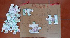 Puzzle di cartone divertente e facile da realizzare, per far divertire i bambini e a sviluppare le loro abilità spaziali