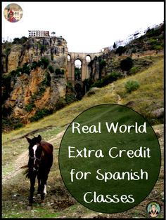 Real World Extra Credit for Spanish Students, Free Lesson Ideas for Spanish Teachers, La Profesora Frida blog gust blogger Srta Elizabeth, Credito Extra, Realia, Real World Homework