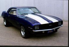 1969 Chevrolet Camaro, 1969 Camaro RS/SS HiPro 350, 700R trans, 10 posi, Purple w/ white stripes and white interior