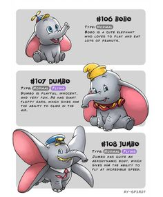 Bobo - Dumbo - Jumbo by Ry-Spirit on DeviantArt Disney Pixar, Disney Animation, Disney Memes, Disney Cartoons, Disney And Dreamworks, Disney Art, Disney Characters, Oc Pokemon, Pokemon Crossover