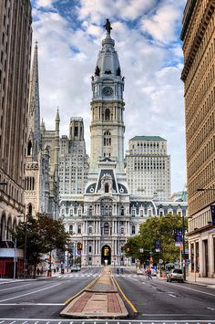Broad Street And A View Of City Hall, Philadelphia, PA