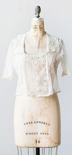lace columns blouse | antique 1910s blouse