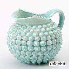 Henriette Duckert - Keramik håndlavet pigget mælkekande turkis