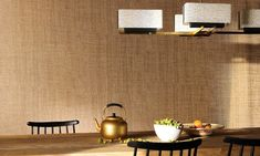 Metallic hints #elitis #wallpaper #trenzseater #air #luxury #natural #madagascar #nature #sensual #wall