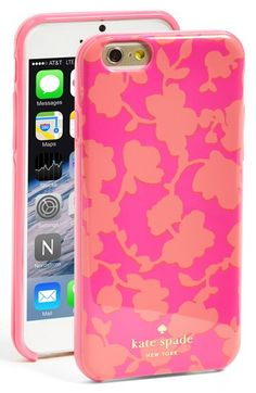 kate+spade+new+york+'graphic+floral'+iPhone+6+hard+shell+case+available+at+#Nordstrom