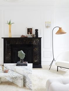 Rattan Is Having a Major Moment—Here's How to Bring It Home Living Etc, Small Living Rooms, Home Living Room, Rattan Counter Stools, Black Wall Lights, Old Lamps, Design Your Dream House, Rattan Furniture, Living Room Inspiration