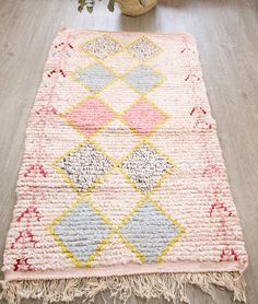 Boucherouite Rug Wedding gift Wedding decor Moroccan Rug
