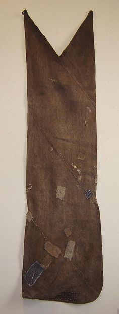 "Antique hemp tsunobukuro ""Horn Bag"" from the collection of Sri Gallery."
