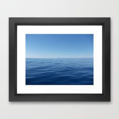 #mediterranean #sea #lasoffittadiste #wall #frame #society6 sea Framed Art Print #society6