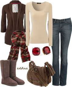 """""""Christmas Winter Outfit"""" by natihasi on Polyvore... minus the shoes"""