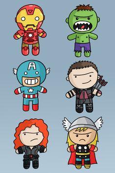 L'il Avengers! Created by Jess Bradley