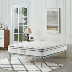 Shop Jenna 10-inch Euro Top Pocket Spring Mattress - On Sale - Overstock - 18521624 Full Size Mattress, Pillow Top Mattress, Best Mattress, Mattress Mattress, Mattresses, Queen Mattress, Wood Daybed, Daybed With Trundle, California King Mattress