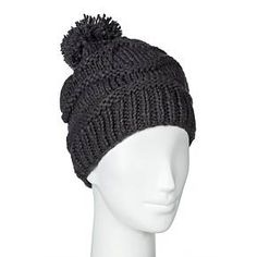 Women's Bubble Beanie with Pom - Moonshadow : Target