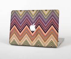 "The Vintage Colored V3 Chevron Pattern Skin Set for the Apple MacBook Pro 15"" with Retina Display from Design Skinz"