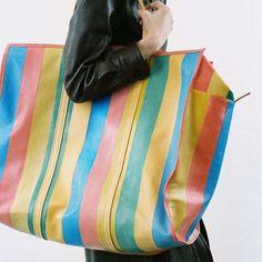 64d3af28737a Balenciaga Demna Gvasalia | Balenciaga Rainbow Bazar Shopper Tote Handbag