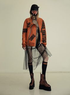 METAL is an independent publishing project with a curious eye and an international spirit, a heady mix of fashion, photography and art. High Fashion, Womens Fashion, Weird Fashion, Patterned Tights, Cool Sweaters, Editorial Fashion, Fashion Forward, Winter Outfits, Street Wear
