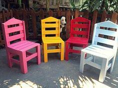 ALC RÚSTICOS : Jogo de cadeiras e mesa para crianças