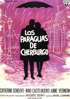"""Spanish poster for THE UMBRELLAS OF CHERBOURG (Jacques Demy, France, 1964) Artist: """"Mac"""""""