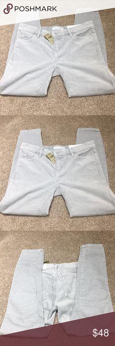 Loft grey/mint corduroys. NWT Loft grey/mint colored. Corduroys. NWT. Skinny legs. LOFT Pants Skinny