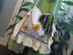 #Gypsy #Sunflower Purse ~ One of my Unique one of a kind larger shoulder bags