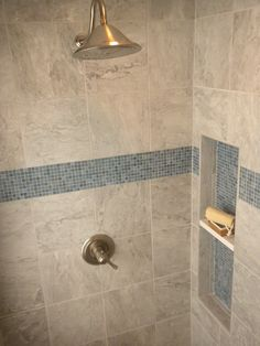 Why not shelve your beauty products in a beautiful niche? Gorgeous mosaic tile…
