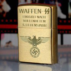 BRASS WAFFEN SS NAZI ZIPPO $89
