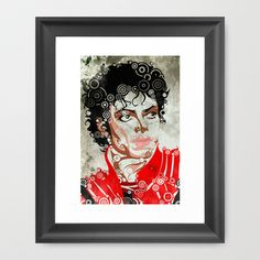 MJ Thriller Framed Art Print by Joshua A. Biron - $30.00