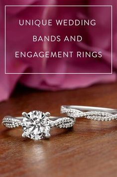 Trending: unique wedding ring sets. More and more couples are looking for unique engagement ring and wedding ring sets with matching or contoured bands.